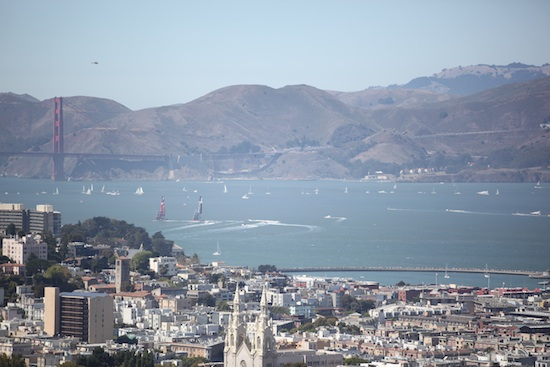 America's cup boats in the harbour